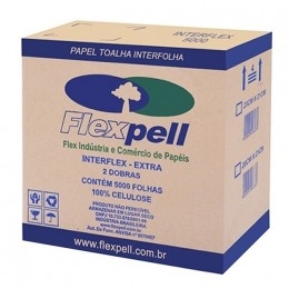 B Papel Toalha Interflex Extra 23x21 C/5000 Flexpell