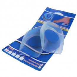 Calcanheira de Silicone com Ponto Azul e Aba Alta Orthosilic