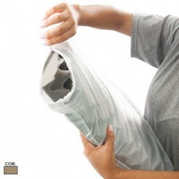 Capa em PVC para Almofada Caixa de Ovo Bege Magic Bag