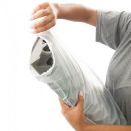 Capa em PVC para Almofada Caixa de Ovo Branca Magic Bag