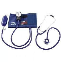 Conjunto Aparelho de Pressão Arterial Nylon Azul com Esteto Duplo BIC