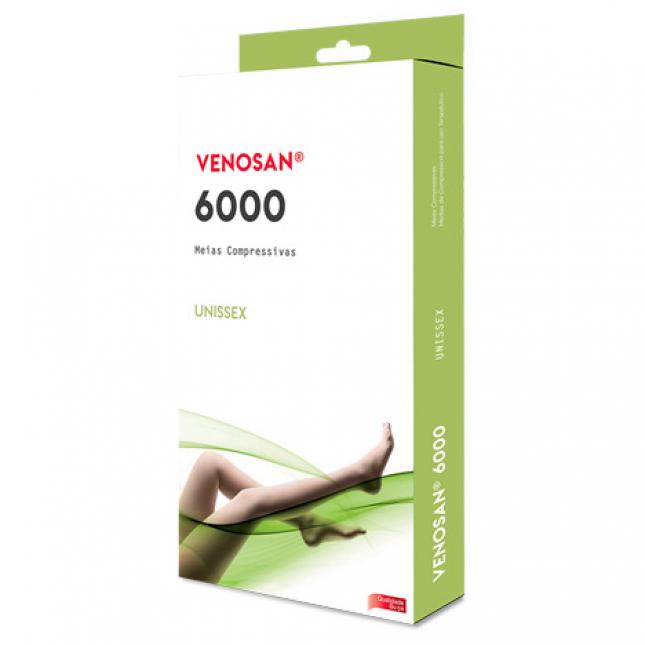 Meia 6000 Venosan 20-30mmHg AD 3/4 pé aberto