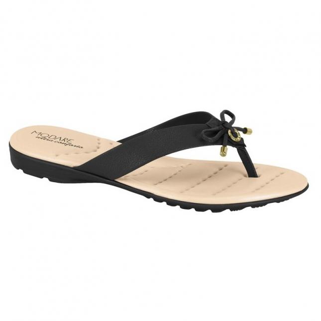 Sandália Modare Floather Laço Preto